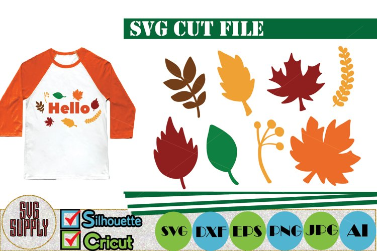 Autumn and Fall Leaves SVG Cut File