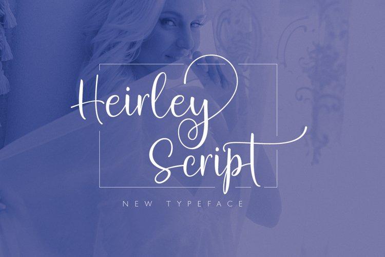 Heirley Script example image 1