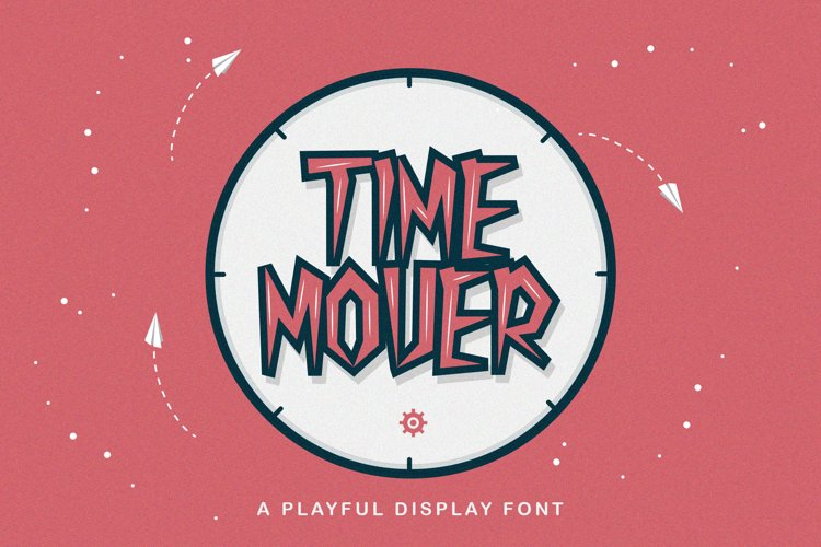 Time Mover - Playful Display Font example image 1