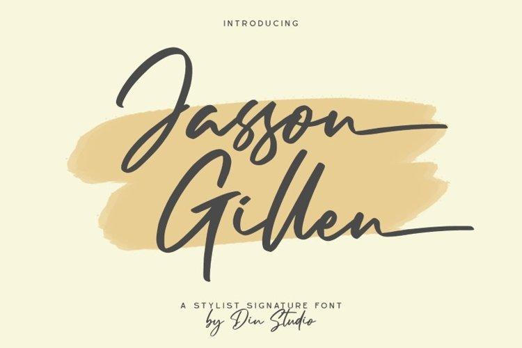 Jasson Gillen- Stylish Signature Font example image 1