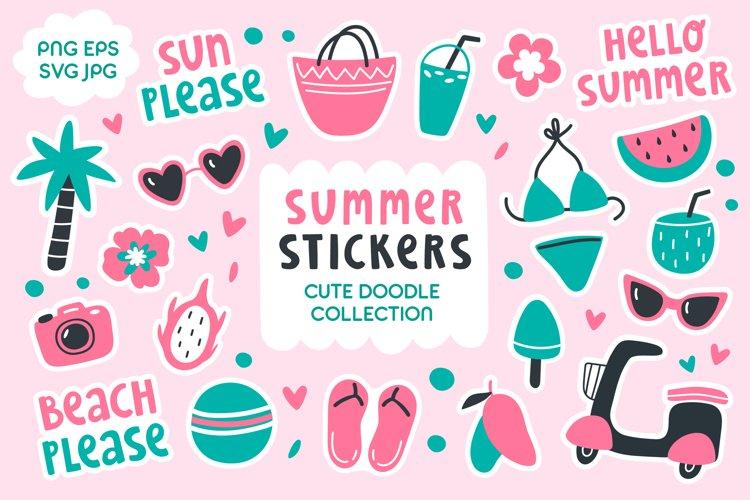 Cute Doodle Summer Sticker Pack