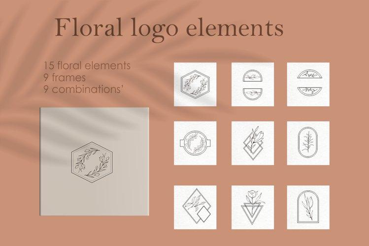 Floral logo elements-logo frames-botany-vector SVG PNG example image 1