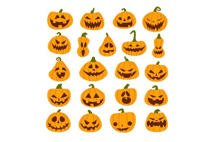 Set of Halloween Scary Pumpkins