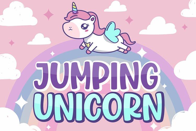 Jumping Unicorn example image 1