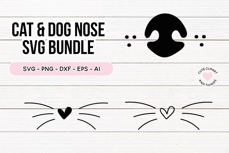 Cat Nose & Dog Nose SVG Bundle | Cat Whiskers SVG |
