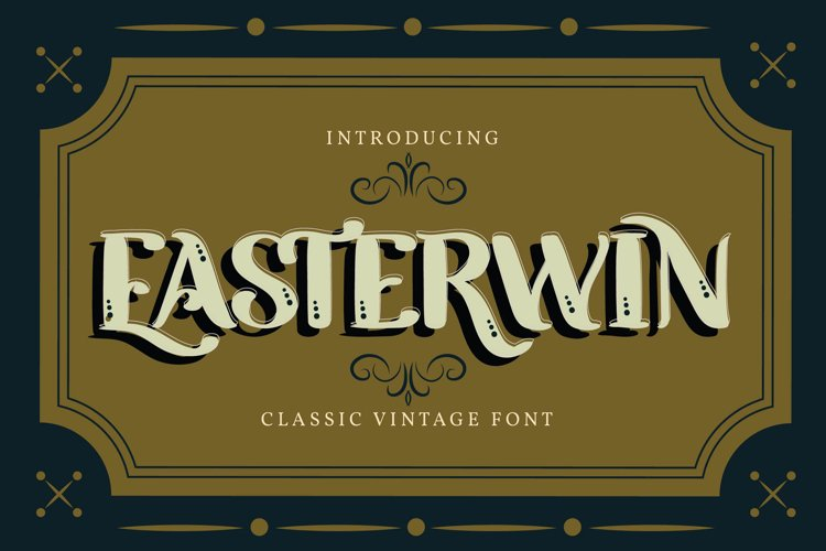 Easterwin   Classic Vintage Font example image 1