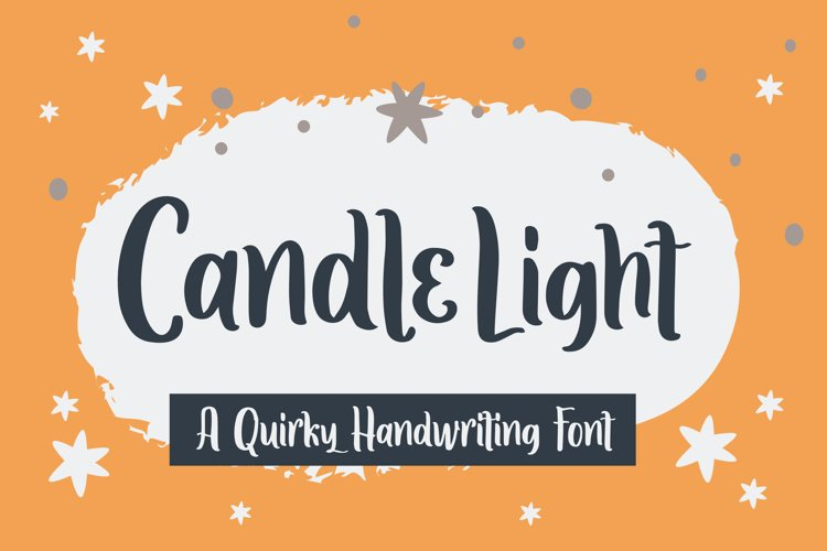 Candle Light - Handwriting Font example image 1
