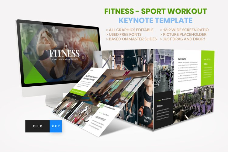 Sport - Fitness Business Workout Keynote Template example image 1