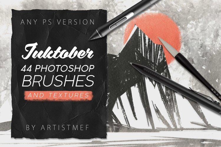Inktober 2019 Photoshop Brushes example image 1