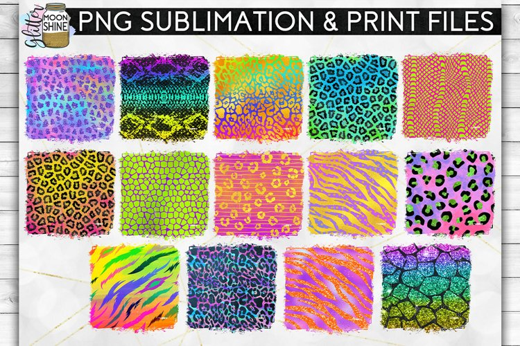 Colorful Animal Print Bundle 42 Sublimation Background PNG example 3