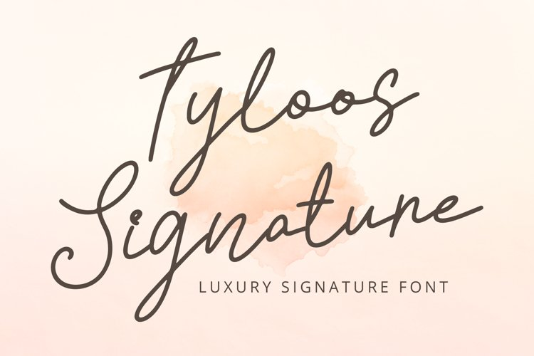 Tyloos Signature - Signature Font example image 1