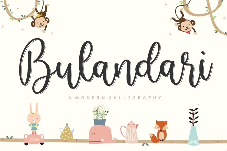Bulandari Modern Calligraphy Font example image 1