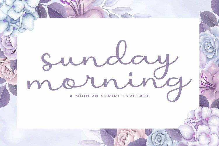 Web Font Sunday Morning example image 1