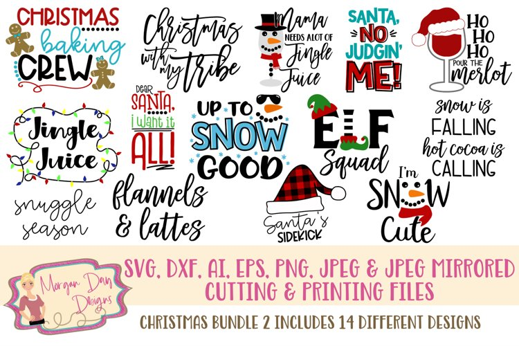 Christmas Bundle 2 SVG, DXF, AI, EPS, PNG, JPEG example image 1