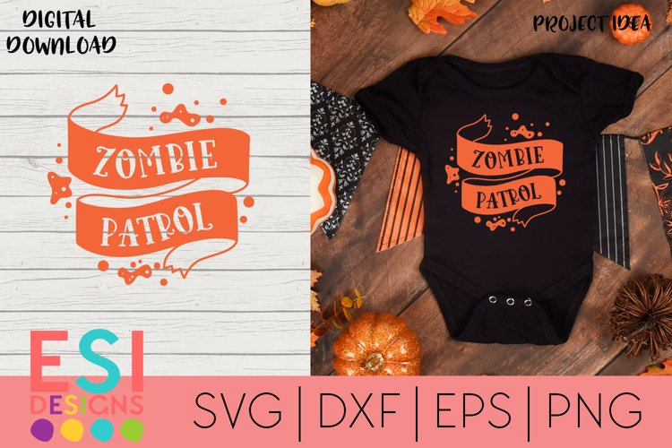 Halloween SVG |Zombie Patrol | SVG cut files example image 1