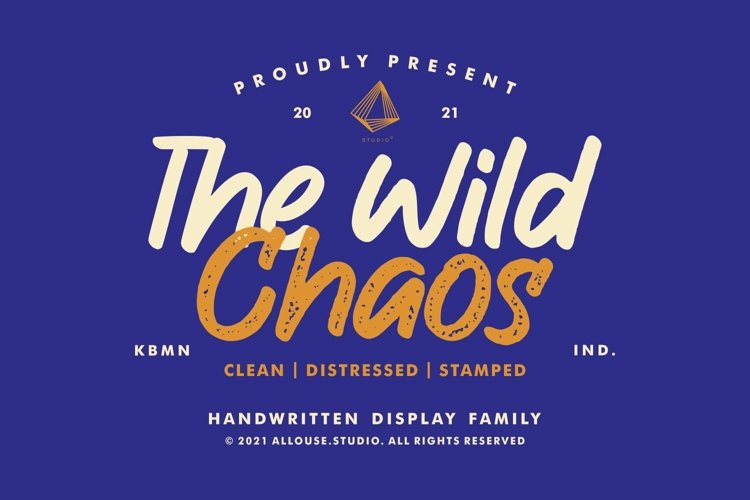 Web Font   The Wild Chaos   Family example image 1