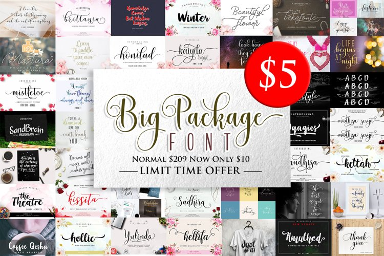 BIG PACKAGE - Font Bundle Collection