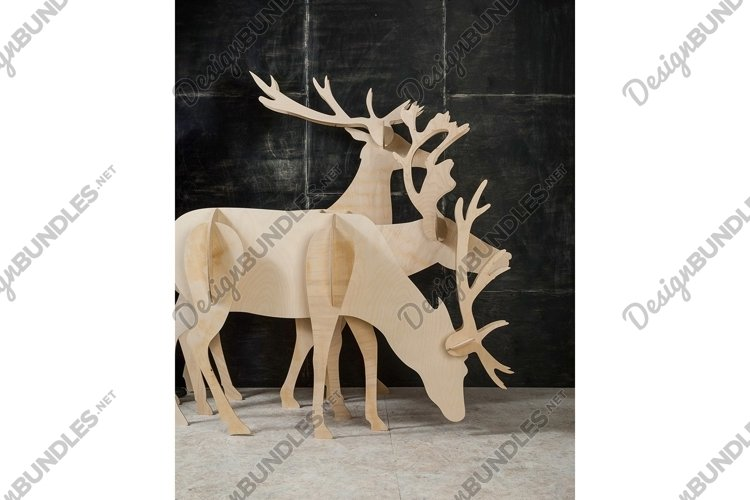 New Year's and Christmas decoration deer made of plywood example image 1