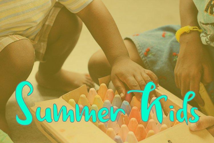 Summer Kids Summer Typeface