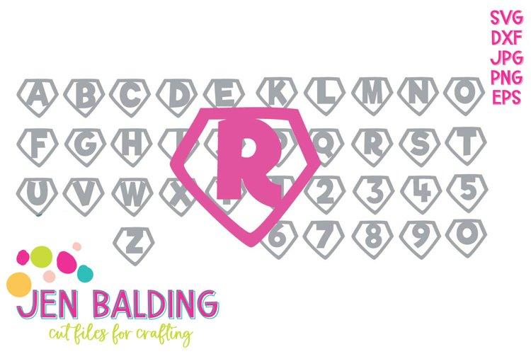 Superhero Monogram SVG Alphabet & Number Bundle