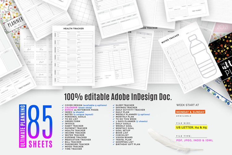 The Ultimate Planner Bundle Pack Vol.04 example image 1