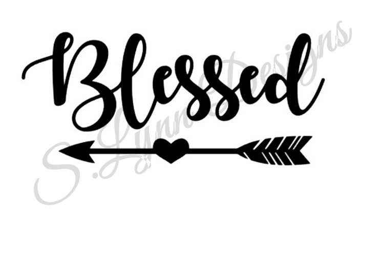 Blessed SVG File example image 1