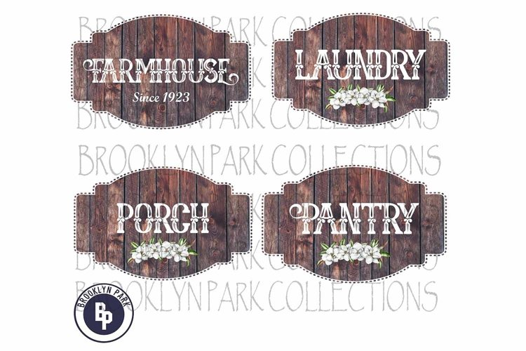 Farmhouse Label, Sign, Bundle, Clip Art, Print, Sublimation