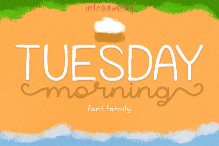 Tuesday Morning | Textured Brush Font with 3 Style example image 1