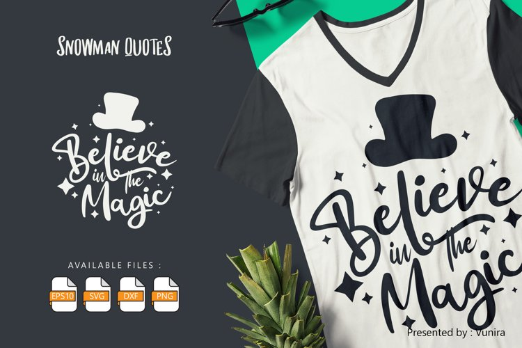 Believe In The Magic | Lettering Quotes example image 1