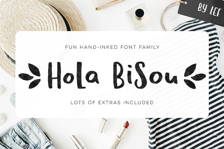Hola Bisou - Fun, quirky inky font