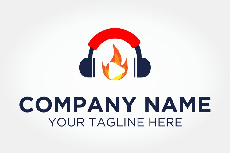 Fire Headphone Logo example image 1