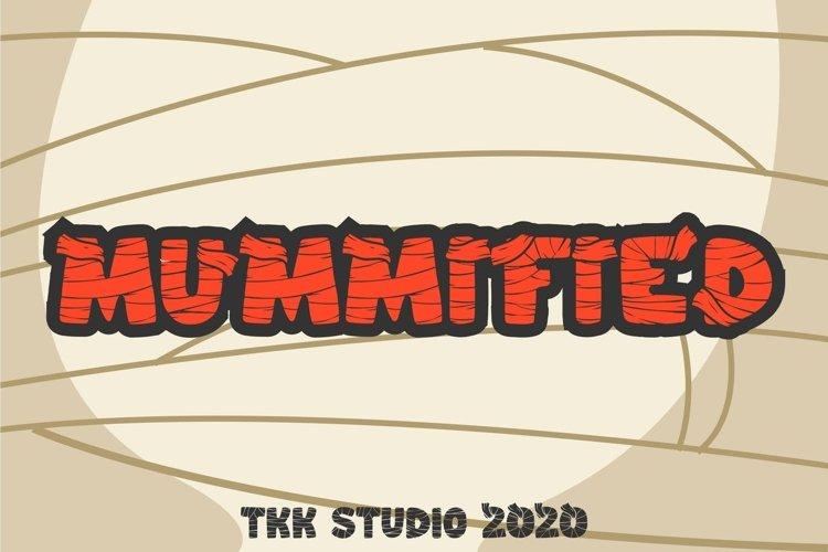 Mummified - Kids horror font example image 1