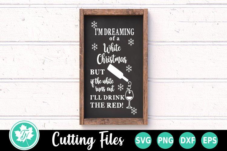 Christmas SVG   Wine SVG   White Christmas SVG example image 1