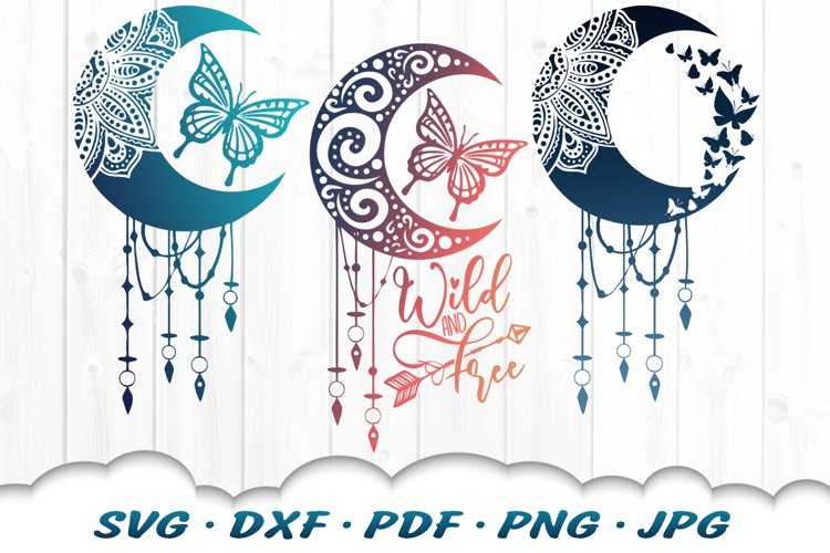 Mandala Dreamcatcher Butterfly SVG DXF Cut Files Bundle example image 1