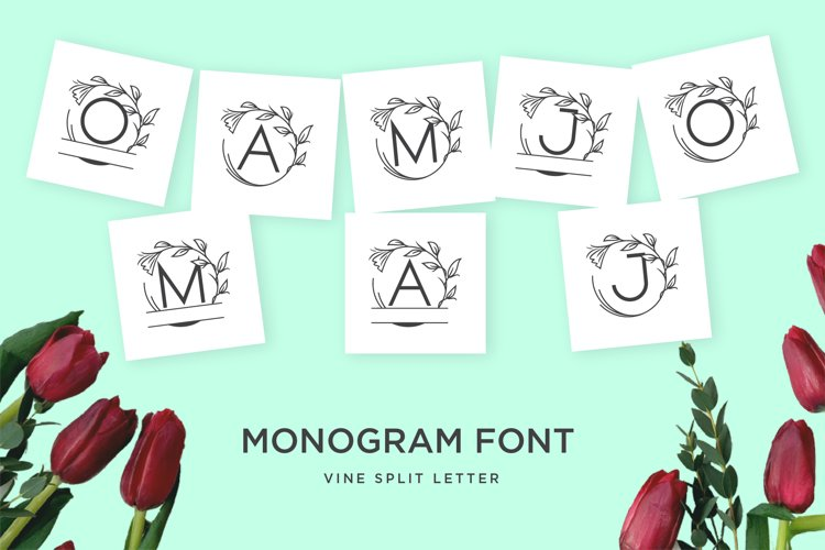 monogram vine letter for crafter example image 1