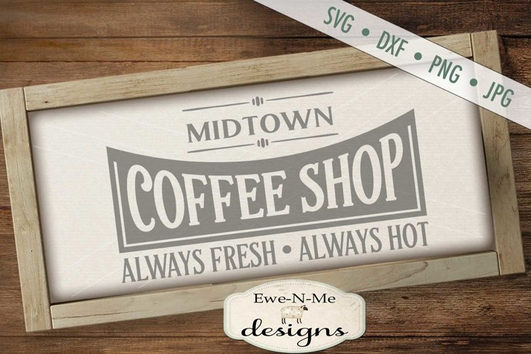 Coffee Shop Kitchen SVG DXF File example image 1