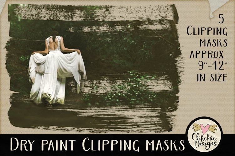 Dry Paint Photoshop Clipping Masks & Tutorial example image 1