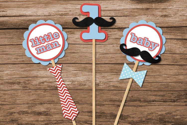 Mustache Bash Party Decor SVG Design Set example image 1