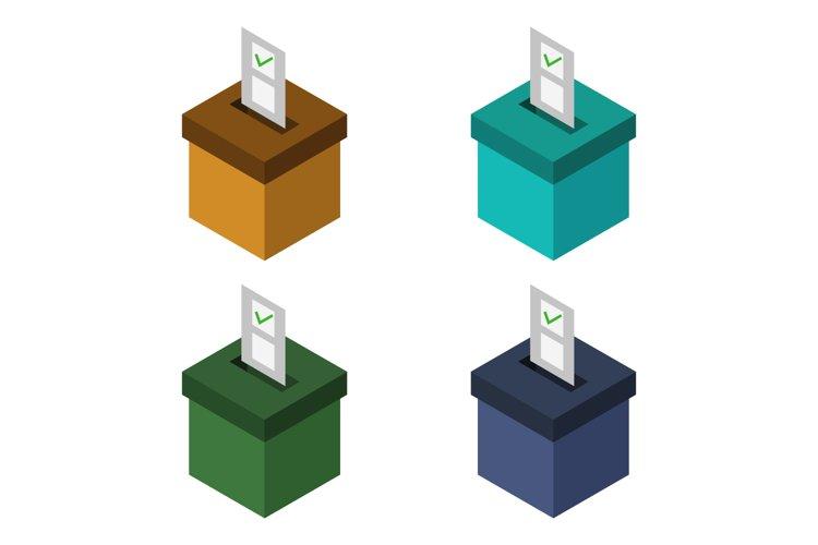 isometric voting box example image 1