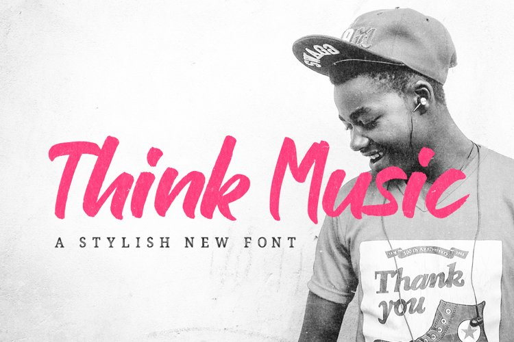 Think Music Font example image 1
