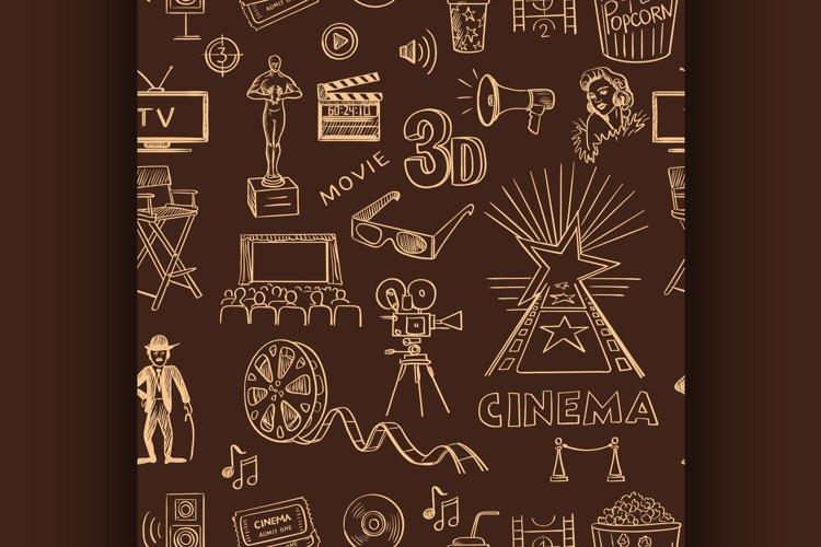 Hand drawn cinema pattern example image 1