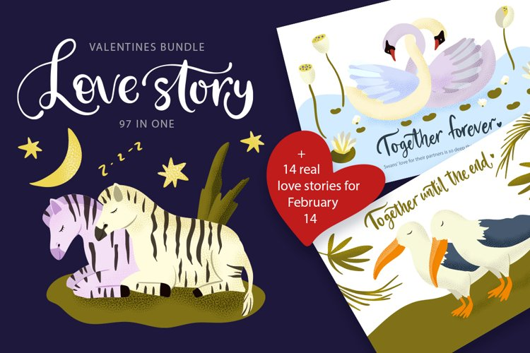 Love Story. Valentine's Day Bundle. example image 1