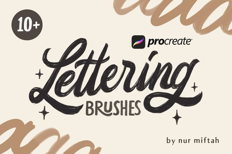 Procreate Lettering Brushes - Free Design of The Week Font