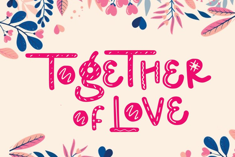 together of love valentine example image 1