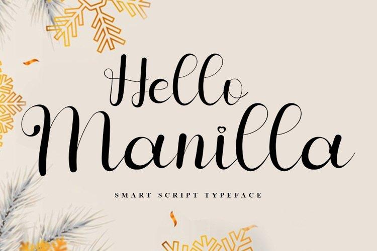 Hello Manilla - Modern Script Font example image 1