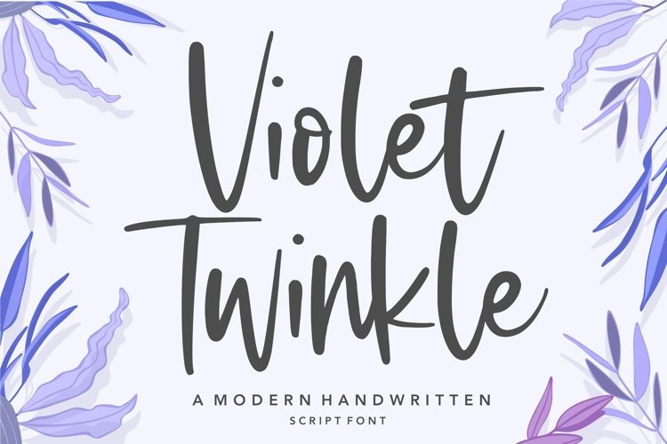 Violet Twinkle Modern Handwritten Script Font example image 1