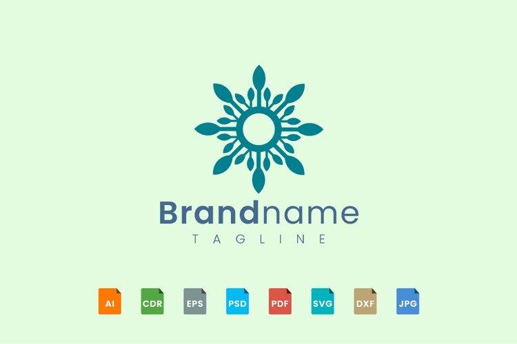 Decorative flower logo template