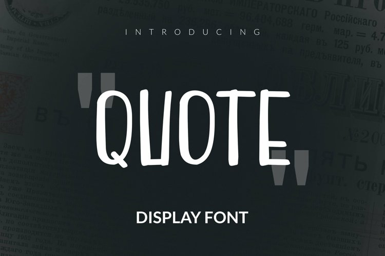 Web Font Quote Font example image 1