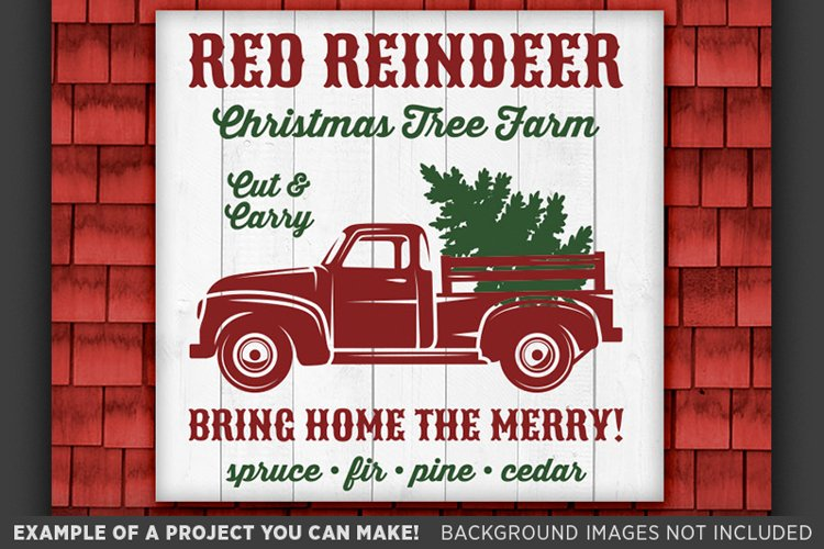 Christmas Truck Svg - Christmas Sign SVG - Tree Truck SVG 55 example image 1