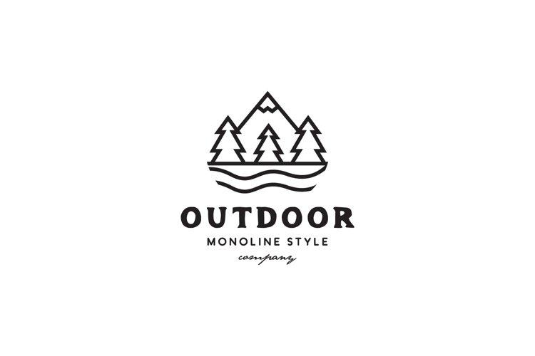 Mountain Outdoor Logo example image 1